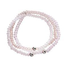 Silver+Plate+Crystal+Multistrand+Stretch+Bracelet