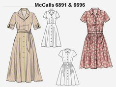 mccalls+pattern+6891 | ... 6696. McCall's 6891 comes the closest to the original dress design