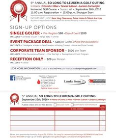 My Landon and another child will be homored at this event! #golf #Milwaukee #Wisconsin #Leukemia #Charity #Gold
