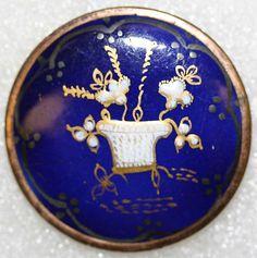 ca 1765-1785 enamel button. French.