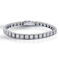 Shimmer Collection  This dazzling 18K white bracelet is comprised of 8.0ctw round white Diamonds.  LP3757