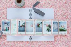 Make an accordion book with your mini intax prints