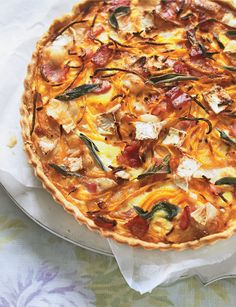 #goatvet likes this recipe for pumpkin, sage and goat cheese tart