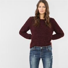 Pull maille popcorn - Collection Pulls manches longues - Pimkie France