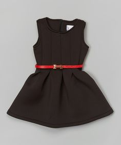 Look at this #zulilyfind! Black & Red Pleated Dress - Toddler & Girls by Blossom Couture #zulilyfinds