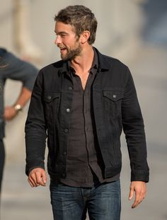 238e628227 Reasons to buy a black denim jacket this fall. Denim Jacket Men Style
