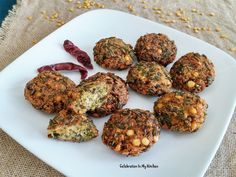 With a bounty of green amaranth leaves from our garden, I wanted to make something different for John than the usual vegetable dish. Vadai made of chana dal is one Fritters, Vegetable Dishes, Bengal, Appetizers, Herbs, Leaves, Vegetables, Ethnic Recipes, Green