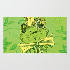 Je+suis+Monsieur+Grenouille+Area+&+Throw+Rug+by+TheCore+-+$28.00