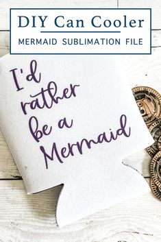 Create a darling mug, shirt, or even a bag with this sweet mermaid printable sublimation file from Everyday Party Magazine #Sublimation #EpsonEcoTank #Mermaid Fun Crafts, Diy And Crafts, Mermaid Images, Diy Cans, Traditional Ink, Country Chic Cottage, Sublimation Paper, Papers Co, Free Printables