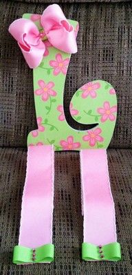 "Letter ""E"" Hair Bow Holder"