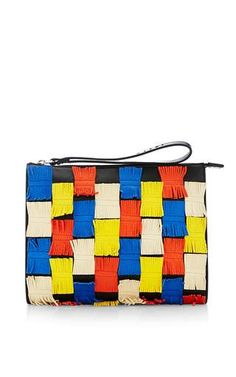 Leather clutch by MARNI Available Now on Moda Operandi