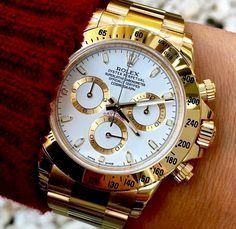 Rolex Daytona On Wrist Men Watches Rolex Daytona Diamond, Rolex Daytona Two Tone, Rolex Daytona White, Rolex Daytona Watch, Rolex Cosmograph Daytona, Rolex Submariner, Diamond Rolex, Stylish Watches, Luxury Watches For Men