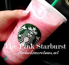 The Pink Starburst Frappuccino! #StarbucksSecretMenu Get it at Starbucks! Order by recipe here: http://starbuckssecretmenu.net/starbucks-secret-menu-the-pink-starburst-frappuccino/