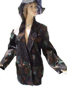 Yessica Blazer schwarz bunt gemustert Gr 42 - 44 (5803) Mode Shop www.chelsea-fashion-glamur.de