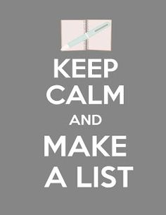 This is me... I make lists for everything!  i love checking things off!  hehe
