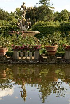 Florenz, Giardino di Boboli, Isolotto, Ozeanbrunnen (Oceanus fountain) | da HEN-Magonza