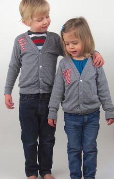 Items similar to Coordinating Sibling Outfits / Matching Brother Sister Clothing / Personalized Twin Cardigans on Etsy Boy Girl Twin Outfits, Boy Girl Twins, Kids Outfits, Jane Clothing, Diy Clothing, Princess Style, Little Princess, Kids Fashion, Fashion Outfits