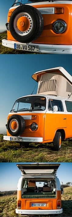 Nostalgic motorhome holidays with the classic Volkswagen . Bus Camper, Vw Bus T2, Camper Life, Volkswagen Bus, Vw Minibus, Camping Diy, Motorhome Interior, T2 T3, Classic Trailers