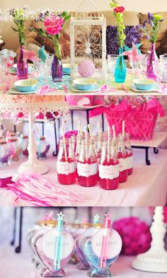 This fairy birthday party has colorful details and whimsical ideas.