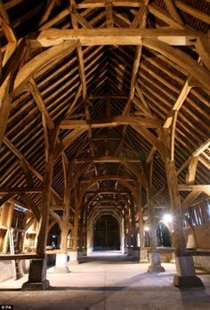 The endurance of green oak is shown in the beautiful structures from medieval England, many of which still survive
