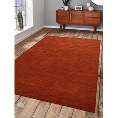 """Latitude Run Ry Hand Knotted Loom Rectangle Wool Light Red Area Rug Rug Size: 6'7"""" x 9'10"""""""