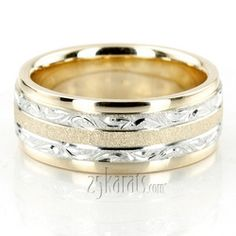 Exclusive Floral Design Wedding Band