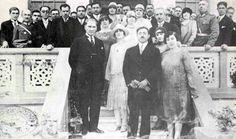 Afgan Kralı Emanullah Han ve Kraliçe Süreyya Ankara'da. Mustafa Kemal Atatürk ile birlikte bir resepsiyonda.