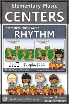 Fall Elementary Music Rhythm Game! Your elementary music students will LOVE this interactive game while aurally identifying eighth notes! Engaging lesson and activity for your Orff and Kodaly lessons!