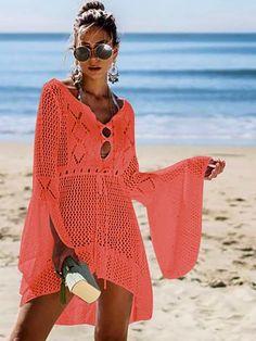 Crochet Beach Dress, Crochet Bathing Suits, Swimwear Cover Ups, Swimsuit Cover Ups, Mode Shop, One Piece Swimwear, Ladies Dress Design, Crochet Clothes, Beachwear