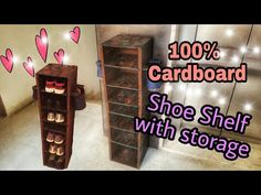 Shoes DIY : Cardboard Furniture: Cardboard Shoe shelf Rustic looks: Career Apparel: Dress for Succes Shoe Shelf Diy, Diy Shoe Storage, Diy Shoe Rack, Diy Storage Boxes, Shoe Racks, Storage Ideas, Diy Cardboard Furniture, Cardboard Cartons, Cardboard Box Crafts