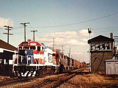 GTW's 1776 Bicentenial Train passes through the Lapeer Interlocking. November, 1975