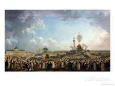 size: Giclee Print: The Festival of the Supreme Being at the Champ De Mars, June 1794 Prairial Year II) by Pierre-Antoine Demachy : Artists Maximilien De Robespierre, Committee Of Public Safety, Jardin Des Tuileries, Musee Carnavalet, Les Religions, Paris Ville, Strange History, French Revolution, Freemasonry