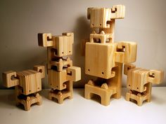 The Booso, wood toy by Pepe | BOOSO - all together by pepehiller, via Flickr