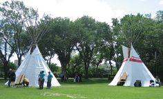 Teepees at National Aboriginal Day at Alberta Legislature Grounds, Edmonton, Alberta, Canada by Bencito the Traveller, via Flickr