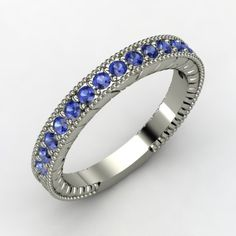 Palladium Ring with Sapphire - Perspective want this!