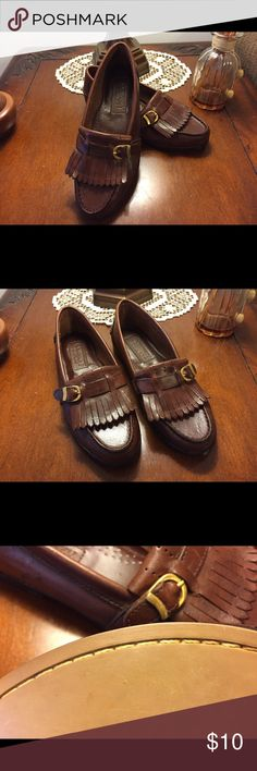 🌟🌟MARKDOWN 🌟🌟COURTNEY TAYLOR LOAFERS Beautiful Courtney Taylor loafers worn one time. Really nice leather with buckle. The buckle is starting to tarnish a little but you can't see it unless you look very closely at them. Courtney Taylor Shoes Flats & Loafers