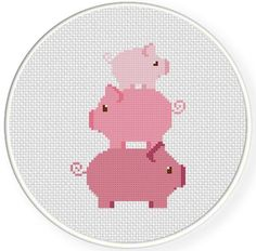 Looking for your next project? You're going to love Piggy Tower Cross Stitch Pattern by designer teamembro3703945.