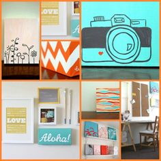 DIY Canvas Painting Ideas   She's got a certain simplicity to her style. Clean, stylish. She ...