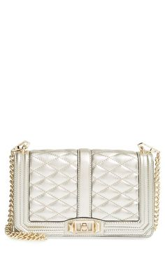 Free shipping and returns on Rebecca Minkoff 'Love' Crossbody Bag at Nordstrom.com. Lush quilted leather lends elegant dimension to a sleek, structured crossbody fitted with a removable chain strap.