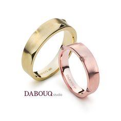 Dabouq Studio Couple Ring - DR0014 - Simple+