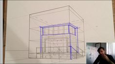 📐Constructed Perspective Absolute Basics - Draw The Three Simple Boxes In Perspective RIGHT NOW Perspective, Boxes, Drawing, Architecture, Simple, Home Decor, Arquitetura, Crates, Decoration Home