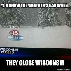 wisconsin closed