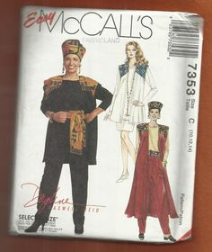 McCalls 7353  Tunic & Duster Length Vests by ThimbledFingerTips