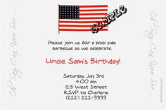4th of July BBQ Invitations -  Get these invitations RIGHT NOW. Design yourself online, download and print IMMEDIATELY! Or choose my printing services. No software download is required. Free to try!