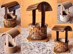 DIY Decoração Tubo PVC Mini Poço para Mini Jardim - YouTube