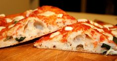 Pizza a lunga maturazione Focaccia Pizza, Arancini, Salty Cake, Bread And Pastries, Pastry Recipes, Bakery, Food And Drink, Appetizers, Cooking