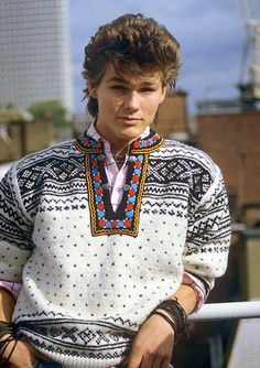 Morton Harket, Aha Band, I Fall In Love, My Love, Teenage Love, Back To The 80's, Nordic Sweater, 80s Pop, 80s Fashion