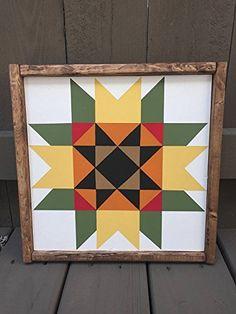 Hand Painted Sunflower Wooden Barn Quilt/Quilt Square Can. Quilt Square Patterns, Barn Quilt Patterns, Square Quilt, Barn Quilt Designs, Quilting Designs, Painted Barn Quilts, Barn Signs, Wooden Barn, Barn Art
