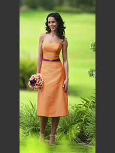 Love this orange and the magenta sash