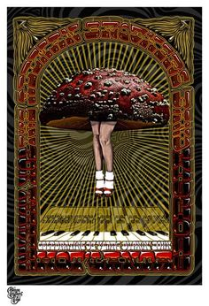 Allman Brothers Band, Fox Theatre, Atlanta, Georgia. Possibly for the April 10, 1979 concert. Poster by Drowning Creek Studio